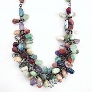 Jewelry - Multicolored Real Stone Beaded Necklace